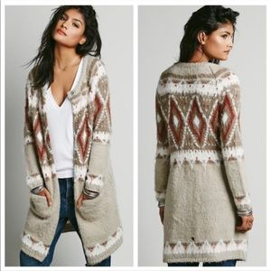NWT Free People Frosted Fair Isle Cardigan